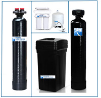 Whole House Water Package: Softener + Carbon Filtration + RO System - 1 Cubic Ft