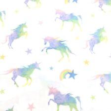 3pc Envogue Unicorn TWIN Sheet Set Rainbow Star Pink Purple Green Blue Yellow