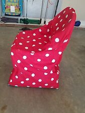 set of 8 red white polka dots slip covers chair seat covers 100% cotton