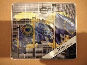 2 Euro Commémorative Coincard Bu France 2015 Colorisé Drapeau Européen