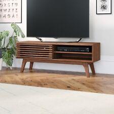 Vintage Tv Stand Cabinet Furniture Retro Wooden Sliding Door 2 Storage Shelves