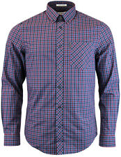 SCONTO 50% BEN SHERMAN CAMICIA HERITAGE HOUSE CHECK SHIRT MA10139 MOD FIT CASUAL