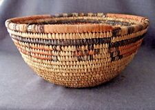 Old African Nigeria Coil Woven Basket a