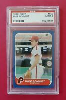 1986 Fleer #450 MIKE SCHMIDT (Philadelphia Phillies HOF) **PSA 9 (MINT)** WOW!!!
