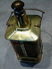 bouteille musicale bec verseur, verre et métal, à nettoyer, métal piqué