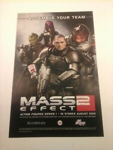 2010 Video Game Print Ad - MASS EFFECT 2 - ACTION FIGURES SERIES 1 -  BIOWARE EA