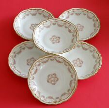 Antique Haviland Limoges Schleiger 842 Soup Bowl Set Rose Swags Bows~GORGEOUS!