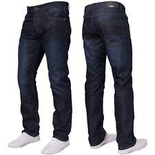 """Enzo Diseño hombre pernera recta Fit Denim azul vaqueros todas las cinturas 86.4cm regular (32"""" Pierna) lavado oscuro (ez373)"""