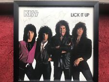 KISS Lick It Up SIGNED AUTOGRAPHED Stanley Simmons Carr Vincent