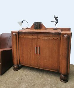 Art Deco Sideboard Oak With Inlaid Detailing By CWS At Radcliffe