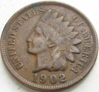 1902 Indian Head Penny / Small Cent in SAFLIP® - XF- (VF+++)