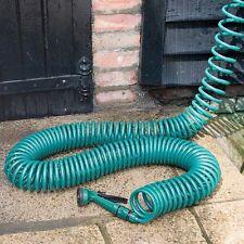 100ft Super Coil Garden Hose Pipe (Five-Function Spray Gun) For Plants, Car etc.