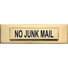 No Junk Mail door letter box Vinyl sticker  26cm x 5cm