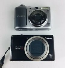 Canon Powershot Digital Camera Lot SX200 IS & A1100 IS Parts Or Repair