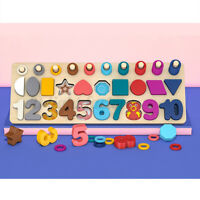 Kid Preschool Learning Montessori Math Toys Counting Board Digital Shape  √