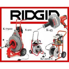 Ridgid K 7500 60052 K 400 T2 52363 K 45 1 36013 Kj 2200 C Jetter 63882