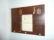 Vintage 1987 Whirlpool Laundry Products Fax Pac Brochure  M-2