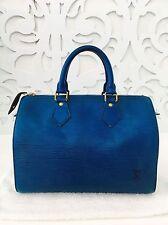 💯% Authentic LOUIS VUITTON Toledo Blue Epi Canvas SPEEDY 25 Boston SP1915