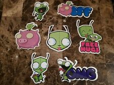 Invader Zim 14 Stickers Nickelodeon Buy 1 Set Get 1 FREE Great Stocking Stuffer