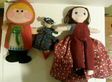 Red Riding Hood lot 3 1970s items Playskool flip storybook handmade as well