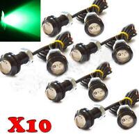 10X Car Motorcycle Green Eagle Eye LED DRL Daytime Running light Backup Fog Lamp