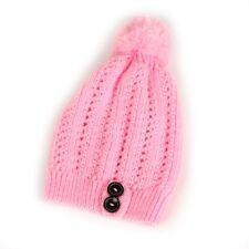 Winter Warm Fur Knitted Hat Slouchy Beanie Cap Warm Hat for Girls Women
