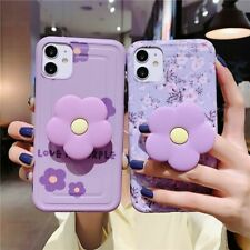 For iPhone 11 Pro Max XS XR 8 7 Shockproof Lavender Flower Phone Case Soft Cover