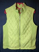 FUDA Women's Ladies Quilted Vest Sleeveless Coat Jacket Zip Mint Green Size XL