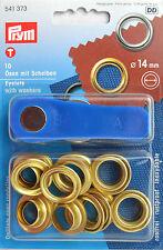 10 �–sen & Scheiben 14 mm goldf.  von Prym 541 373