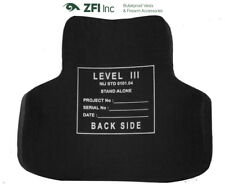 Rabintex Full Face Plates Level III SAPI MUlTI HIT Front & Back Curved Plates