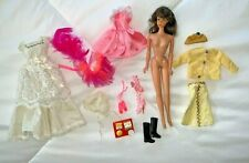 New Listing% 1966 Mattel Tnt Barbie with clothes and accessories ballet shoes boots
