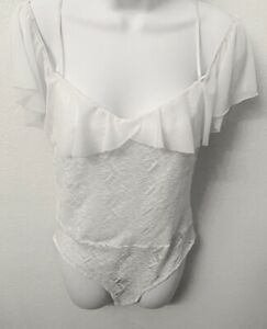 Charlotte russe White Lace Body Suit