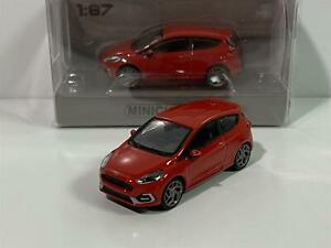 Minichamps 870087104 Ford Fiesta ST 2018 Red 1:87 Scale