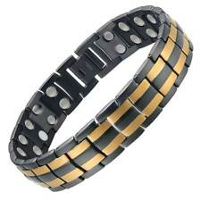 Black Gold Titanium Fully Magnetic Therapy Bracelet | Arthritis Pain Relief