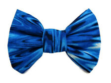 Blue/Black Water Ripple Handcrafted Dog/Cat Collar Bow Tie