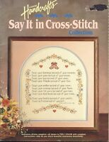 Cross Stitch Say It In Cross Stitch 17 Counted Cross Stitch Patterns Projects