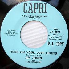 JIM JONES pop rock promo 45 TURN ON YOUR LOVE LIGHTS strong VG+ a-side     F1756