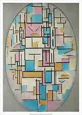 PIET MONDRIAN - Composition in Oval with color planes 1, 1 ART PRINT 19.5x27.5