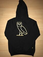 Size S Drake OVO OG Owl Hoodie Black Gold Embroidered Season 1 Octobers Very Own