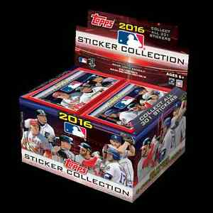 2016 TOPPS MLB STICKERS COLLECTION 10 PACKS WITH 8 STICKERS PER PACK NEW