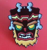Crash Bandicoot Pin Uka Uka Mask Enamel Retro Gaming Metal Brooch Badge Lapel