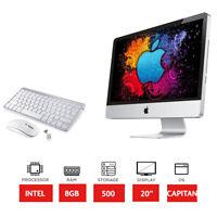 """Apple iMac A1224 - 20"""" - Intel 2.26GHz Processor - 500GB HDD - 8GB RAM"""