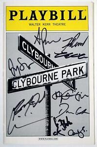 CLYBOURNE PARK Fulll Cast Jeremy Shamos Signed Opening Night Playbill