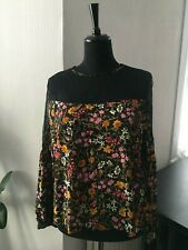 BNWT Zara Floral and Lace Top Blouse  - Size Medium