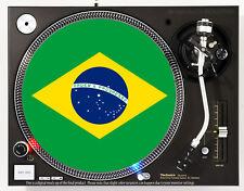 BRAZIL FLAG - DJ SLIPMAT 1200's or any turntable, record player