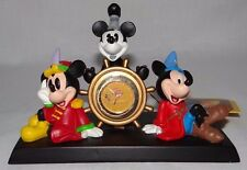 Disney Store Mickey Mouse 75 Years of Love and Laughter Desk Clock