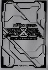 (100) YU-GI-OH Card Deck Protectors new ZEXAL Card Sleeves silvery