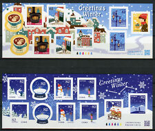 Japan 2017 MNH Winter Greetings 2x 10v S/A M/S Snow Coffee Architecture Stamps