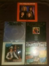 Lot of 5 country LP Kenny Rogers Forester Sisters David Frizzel Shelly West exc