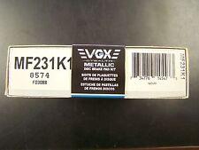 VGX MF231K1 New Rear Brake Pads Kit fits Nissan 200SX 240SX 280ZX 300ZX